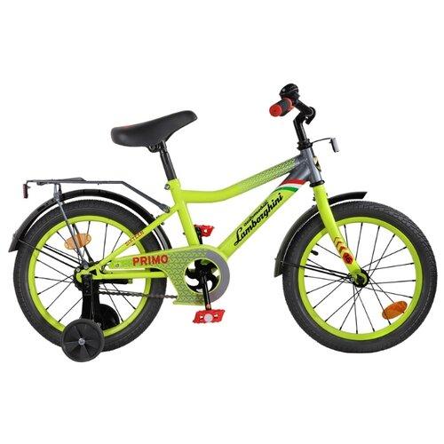 Детский велосипед Lamborghini Toys Primo 16 (LB-B2-0116) зеленый (требует финальной сборки)