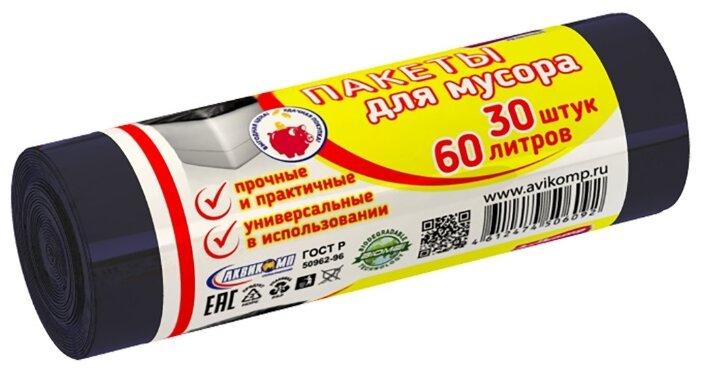Мешки для мусора Avikomp хозяйственные 60 л (30 шт.)