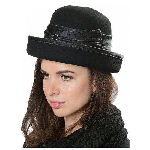 Щелково-фетр 76-56 Шляпа женская мод.А76 цвет черный р 56