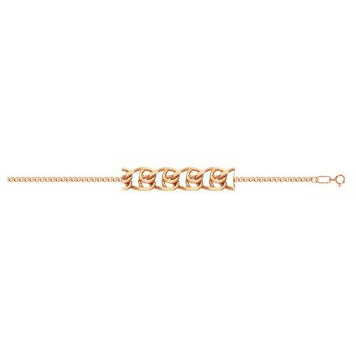 АДАМАС Браслет золотой плетения LOVE БЛ135А2-А51, 18 см, 1.35 г