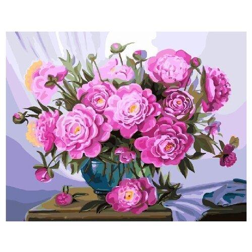 Купить ВанГогВоМне Картина по номерам Букет розовых пионов , 40х50 см (ZX 21594), Картины по номерам и контурам