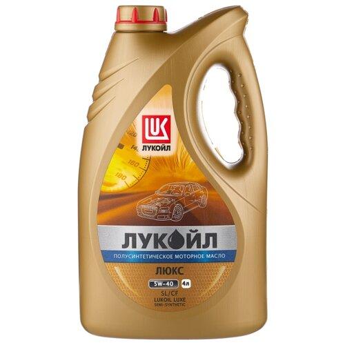 Моторное масло ЛУКОЙЛ Люкс полусинтетическое SL/CF 5W-40 4 л моторное масло лукойл люкс полусинтетическое sl cf 10w 40 1 л