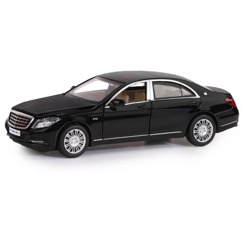Купить Легковой автомобиль Автопанорама Mercedes-Benz S600 (JB1251034) 1:32 14 см черный, Машинки и техника