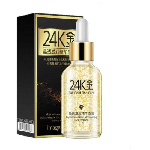 Images Сыворотка для лица 24К Gold Skin Care с золотом и гиалуроновой кислотой, 30 мл fern flower сыворотка для лица с кукурузой и гиалуроновой кислотой 30 мл
