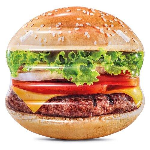 Матрас Intex Гамбургер 142x145 см коричневый/зеленый