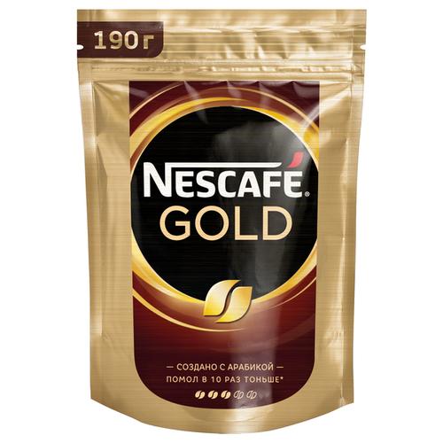 Кофе растворимый Nescafe Gold, пакет, 190 г nescafe gold 100