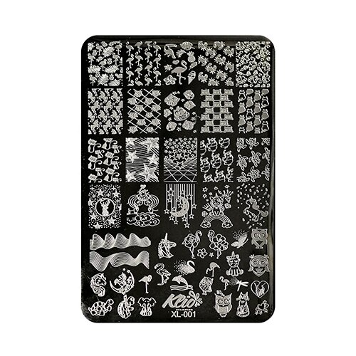 Купить Трафарет KLIO Professional №001 15 х 11 см black