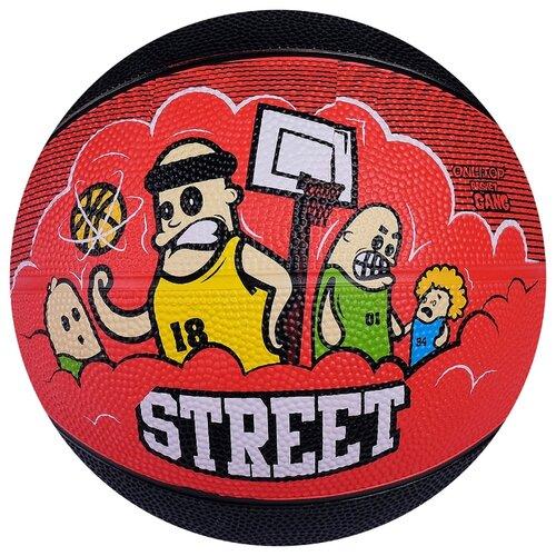 монтаж карповый onlitop готовый 2 40 г Баскетбольный мяч Onlitop Street, р. 5 красный/черный