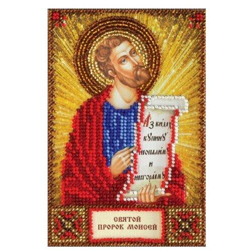 Купить ABRIS ART Набор для вышивания бисером Святой Моисей 10 х 15 см (AAM-112), Наборы для вышивания