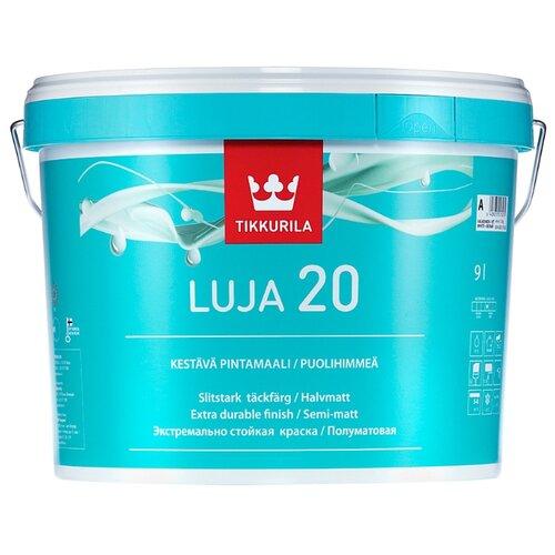 Краска Tikkurila Luja 20 полуматовая белый 9 л 1 (A/BW) краска интерьерная tikkurila joker a 9 л
