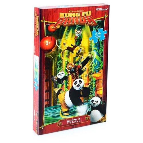 Пазл Step puzzle Maxi Кунг-фу Панда (90056), 24 дет. пазл step puzzle maxi даша путешественница 90050 24 дет