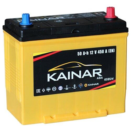 Автомобильный аккумулятор Kainar Asia 6СТ50 VL АПЗ о.п. 65B24LS автомобильный аккумулятор kainar asia 6ст65 vl апз п п 88d23r