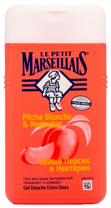 Гель для душа Le Petit Marseillais Белый персик и нектарин