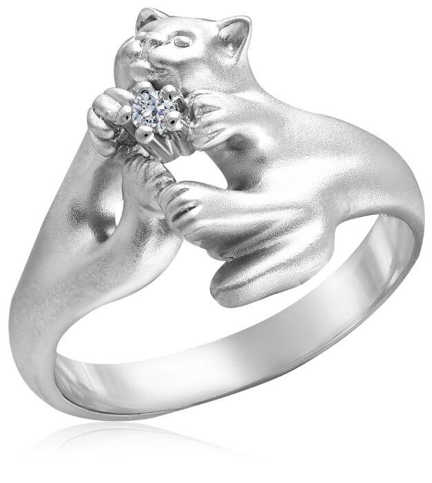 Бронницкий Ювелир Кольцо из серебра С 10530