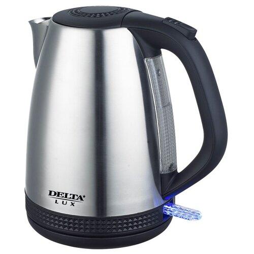 Чайник DELTA LUX DL-1285, черный чайник электрический delta lux dl 1207
