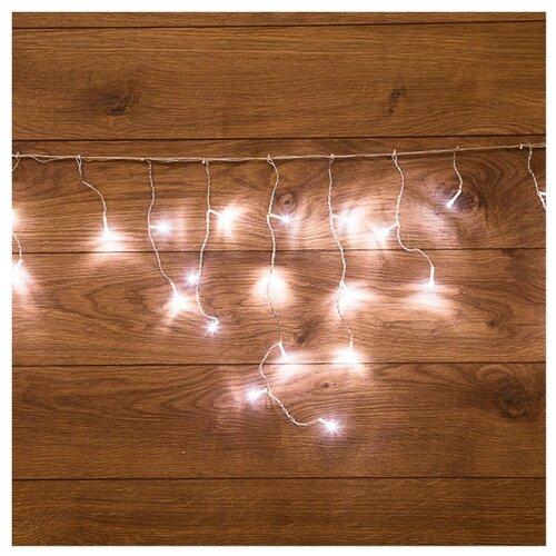Гирлянда NEON-NIGHT Бахрома, 48 LED, 180х50 см, белый/прозрачный провод