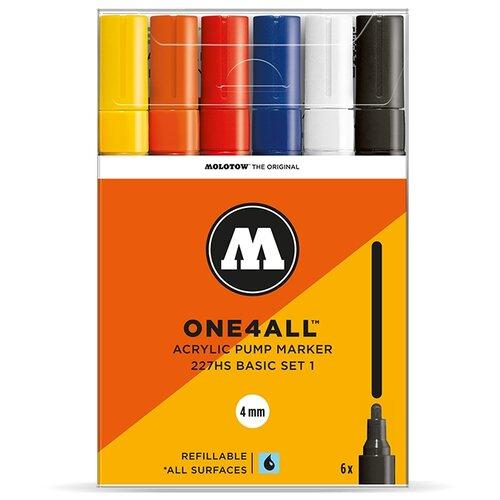 Купить Molotow Набор маркеров One4all 227HS Basic-Set 1 6 шт. (200453), Фломастеры и маркеры