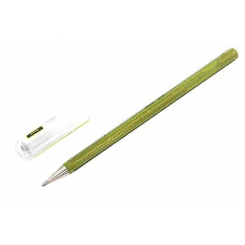 Pentel гелевая ручка Hybrid Dual Metallic, 1.0 мм, желтый цвет чернил