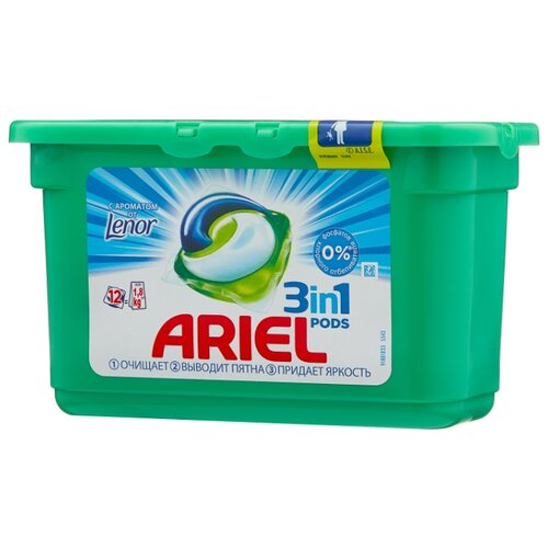 Ariel капсулы PODS 3-в-1 Touch of Lenor Fresh, контейнер, 12 шт