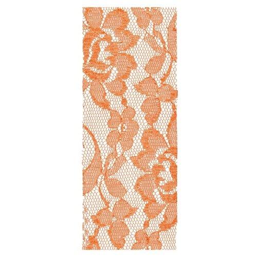 Купить Лента BLUMENTAG кружевная LRW-71 62 мм, 10 м 023 оранжевый/кружево, Декоративные элементы
