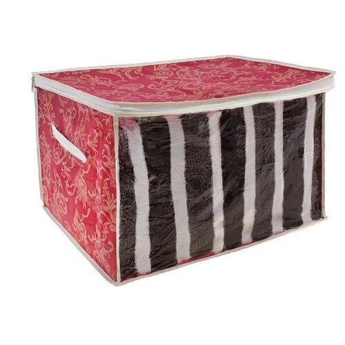 Доляна Кофр для хранения вещей 565817 бордовый кофр для хранения вещей el casa котята на бирюзовом складной 50 х 29 х 24 см