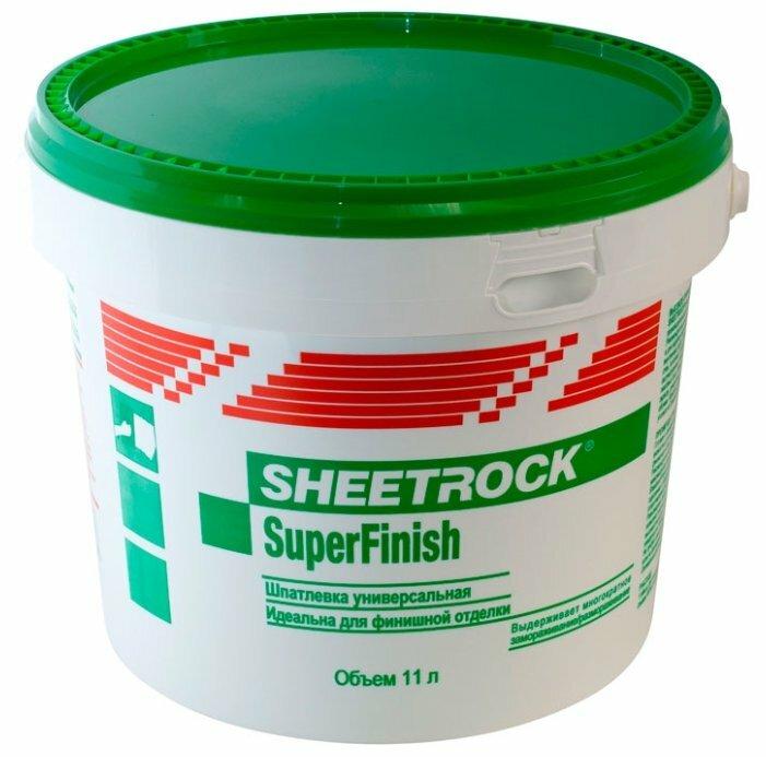 Danogips SuperFinish (бывший Sheetrock) шпаклевка готовая к применению (18кг)