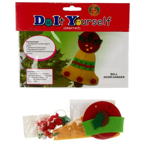 Купить Monte Christmas Набор Сделай сам Новогоднее украшение (N9841008) красный/желтый/зеленый, Изготовление кукол и игрушек