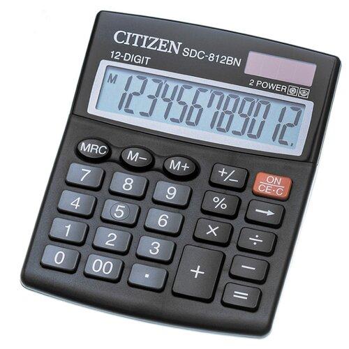 Калькулятор бухгалтерский CITIZEN SDC-812 черный