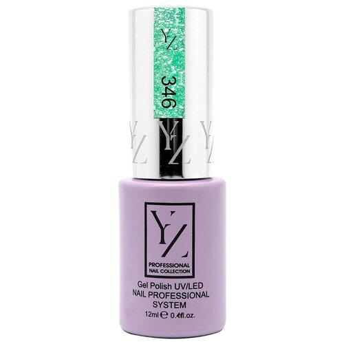 Купить Гель-лак для ногтей Yllozure Nail Professional System, 12 мл, оттенок 346 искристый бирюзовый