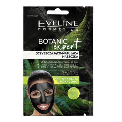 Купить Eveline Cosmetics Маска Botanic Expert с углем очищающе-матирующая, 10 мл