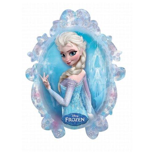 Воздушный шар Anagram Холодное сердце Эльза и Анна 78 см голубой/розовый