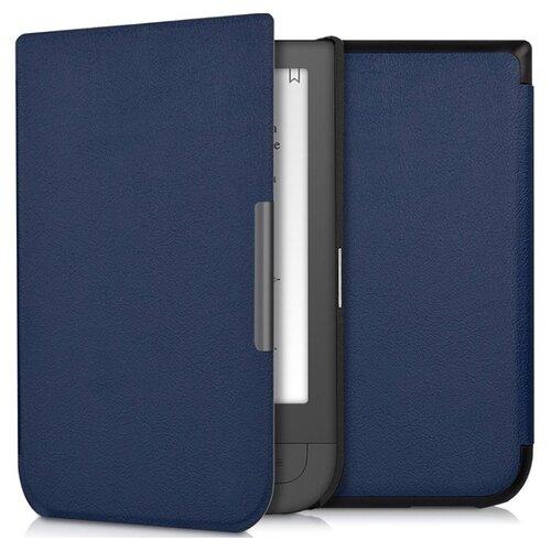 Чехол-обложка футляр MyPads для PocketBook 631 Touch HD из качественной эко-кожи тонкий с магнитной застежкой синий