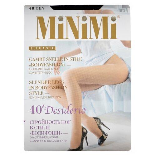 Колготки MiNiMi Desiderio (Nudo) 40 den, размер 4-L, nero (черный) колготки minimi desiderio nudo 20 den размер 4 l daino бежевый