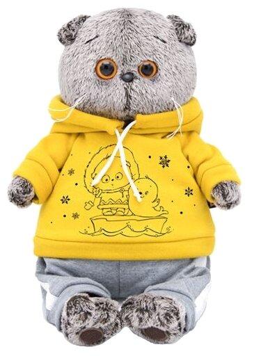 Мягкая игрушка Basik&Co Кот Басик в спортивном костюме 19 см