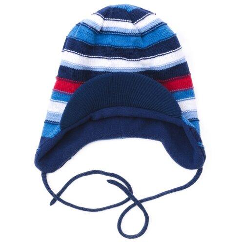 Шапка playToday размер 46, темно-синий/голубой шапка playtoday размер 46 сиреневый