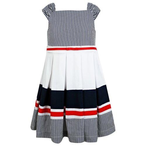 Платье Mayoral размер 92, белый/синий/красный платье oodji ultra цвет красный белый 14001071 13 46148 4512s размер xs 42 170