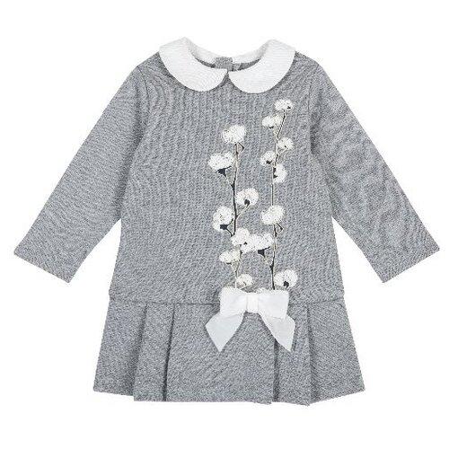 Купить Платье Chicco размер 86, серый, Платья и юбки