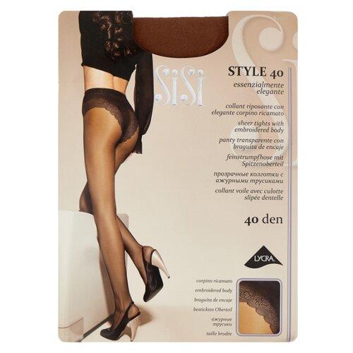 Колготки Sisi Style 40 den, размер 5-MAXI XL, daino (коричневый) колготки sisi activity 70 den размер 5 maxi xl daino коричневый