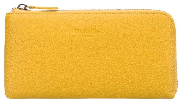 Купить Портмоне Dr.Koffer X510357-170, натуральная кожа желтый по низкой цене с доставкой из Яндекс.Маркета