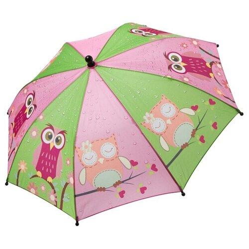 Зонт BONDIBON, зелёный/фиолетовый с совятами.