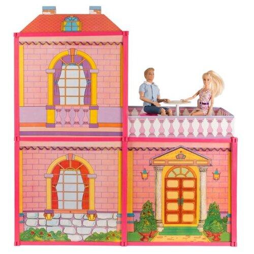 Купить Карапуз кукольный домик София , B72906-S-HU, розовый, Кукольные домики