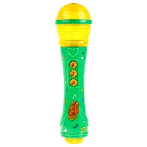 Купить Умка микрофон B1473776-R1 желтый/зеленый, Детские музыкальные инструменты