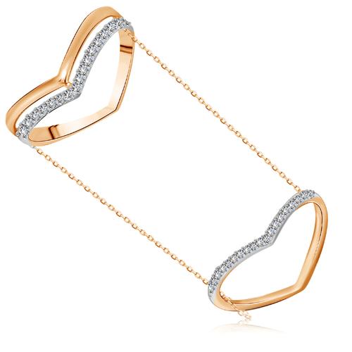 Бронницкий Ювелир Кольцо из красного золота Д0268-017060, размер 17 бронницкий ювелир кольцо из красного золота д0268 017060 размер 17