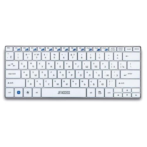 Беспроводная ультракомпактная клавиатура JETACCESS SlimLine K7 W White с USB-интерфейсом