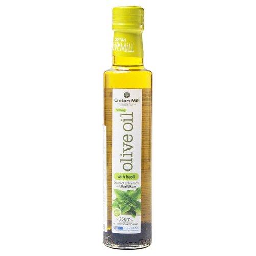 оливковое масло cretan mill с сушёными томатами extra virgin 250 мл греция Cretan Mill Масло оливковое Extra Virgin с базиликом 0.25 л