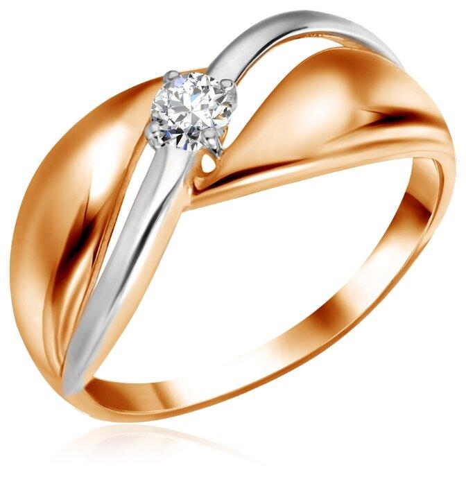 Бронницкий Ювелир Кольцо из красного золота Д0268-016765