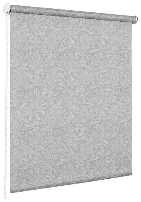 Рулонная штора Эскар миниролло Форест (серый)