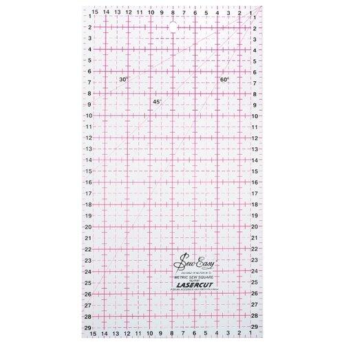 Купить Hemline Линейка для пэчворка Sew Easy NL4191, 31 x 16 см прозрачный, Инструменты и аксессуары