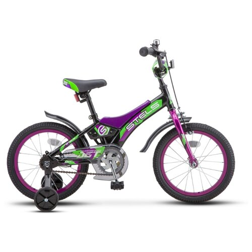 Фото - Детский велосипед STELS Jet 16 Z010 (2020) черный/зеленый 9 (требует финальной сборки) городской велосипед stels navigator 300 lady 28 z010 2018 фиолетовый 20 требует финальной сборки