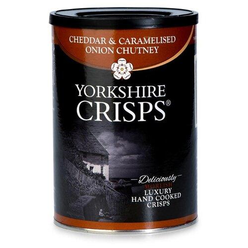Чипсы Yorkshire Crisps картофельные с сыром чеддер и карамелизированным луком, 100 г недорого